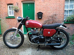 Our Matchless G12 which we fully renovated ourselves