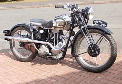 stainless wheel rebuilds on this beautiful AJS
